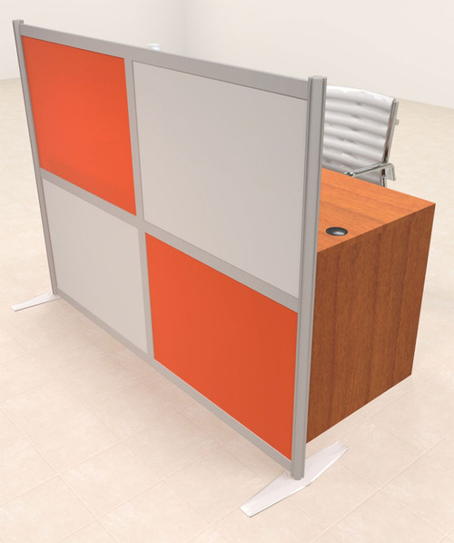 One Person Workstation w/Acrylic Aluminum Privacy Panel, #OT-SUL-HPO97