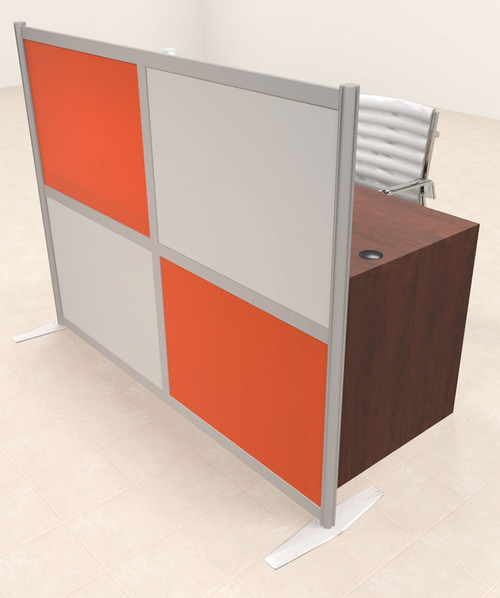 One Person Workstation w/Acrylic Aluminum Privacy Panel, #OT-SUL-HPO98