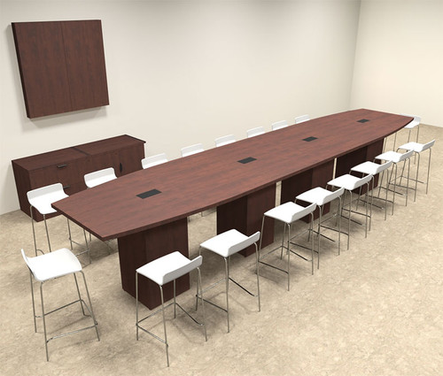 Boat Shape Counter Height 18' Feet Conference Table, #OF-CON-CT27