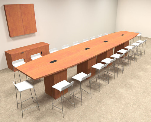 Boat Shape Counter Height 20' Feet Conference Table, #OF-CON-CT32