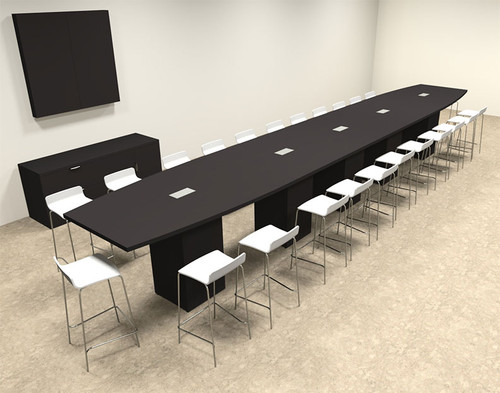 Boat Shape Counter Height 24' Feet Conference Table, #OF-CON-CT48