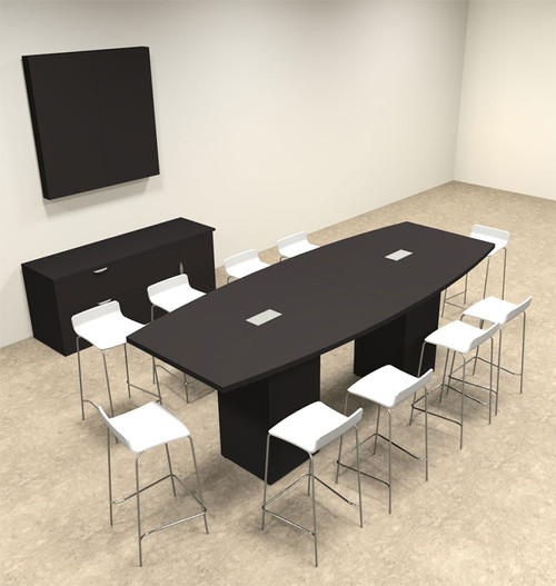 Boat Shape Counter Height 10' Feet Conference Table, #OF-CON-CT6