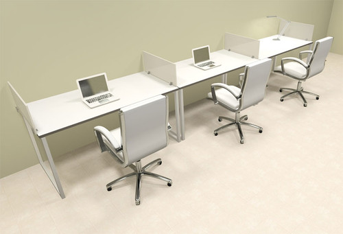 office workstations desks. There Person Modern Acrylic Divider Office Workstation, #AL-OPN-SP19 Workstations Desks