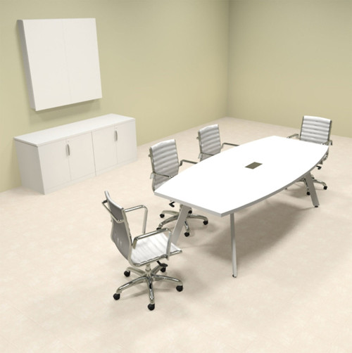 Modern Boat shaped 8' Feet Conference Table, #OF-CON-CV1