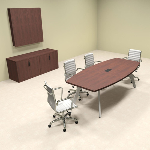 Modern Boat Shaped Feet Conference Table OFCONCV HO Furniture - 8 foot conference table and chairs