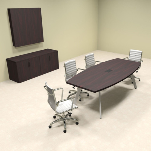 Modern Boat shaped 8' Feet Conference Table, #OF-CON-CV5