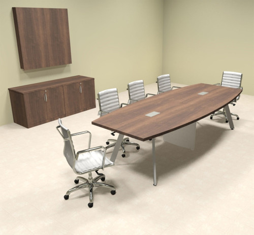 Modern Boat shaped 10' Feet Conference Table, #OF-CON-CV11