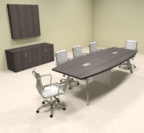 Modern Boat shaped 10' Feet Conference Table, #OF-CON-CV14