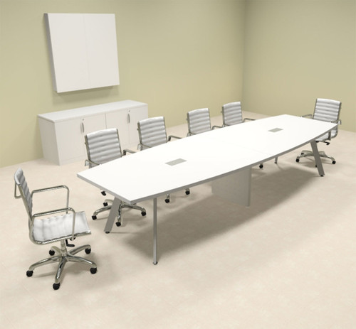 Modern Boat shaped 12' Feet Conference Table, #OF-CON-CV15