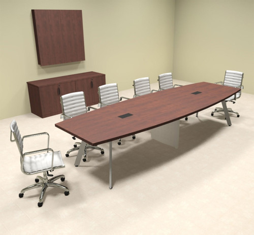 Modern Boat shaped 12' Feet Conference Table, #OF-CON-CV18