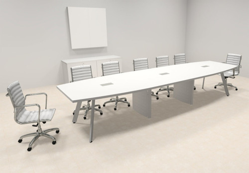 Modern Boat shaped 14' Feet Conference Table, #OF-CON-CV22