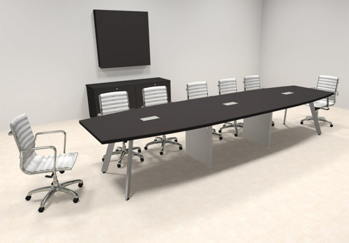 Modern Boat shaped 14' Feet Conference Table, #OF-CON-CV27