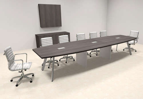 Modern Boat shaped 14' Feet Conference Table, #OF-CON-CV28