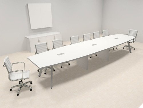 Modern Boat shaped 16' Feet Conference Table, #OF-CON-CV29