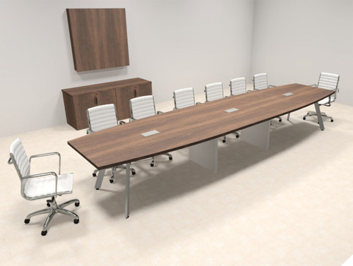 Modern Boat shaped 16' Feet Conference Table, #OF-CON-CV31