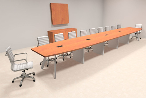 Modern Boat shaped 22' Feet Conference Table, #OF-CON-CV51