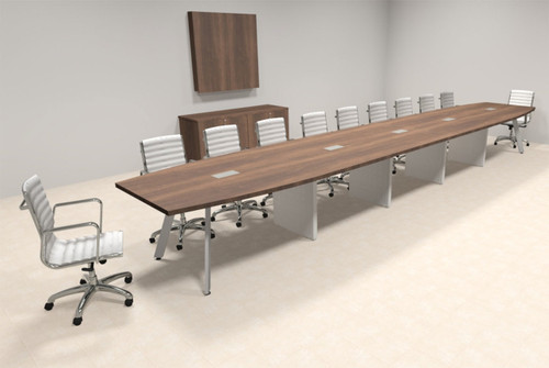 Modern Boat shaped 22' Feet Conference Table, #OF-CON-CV52