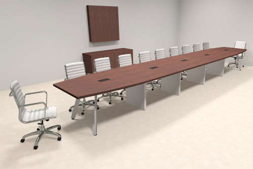 Modern Boat shaped 22' Feet Conference Table, #OF-CON-CV53