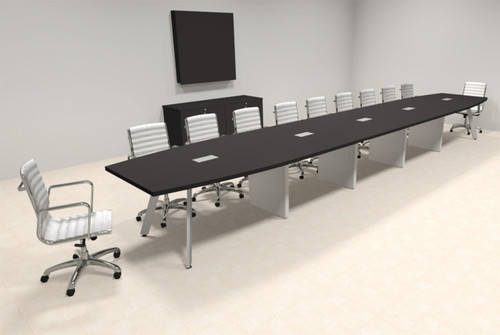 Modern Boat shaped 22' Feet Conference Table, #OF-CON-CV55