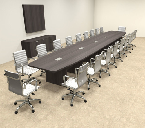 Modern Boat Shapedd 22' Feet Conference Table, #OF-CON-C139