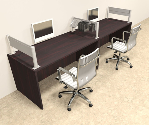 Two Person Modern Aluminum Organizer Divider Office Workstation, #OT-SUL-SPW3