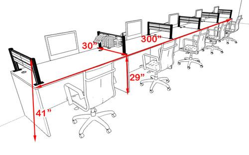 Five Person Modern Aluminum Organizer Divider Office Workstation, #OT-SUL-SPW14