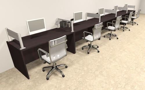 Five Person Modern Aluminum Organizer Divider Office Workstation, #OT-SUL-SPW15