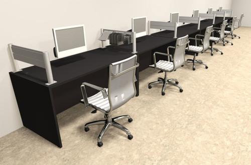Six Person Modern Aluminum Organizer Divider Office Workstation, #OT-SUL-SPW20