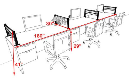 Three Person Modern Aluminum Organizer Divider Office Workstation, #OT-SUL-SPW25