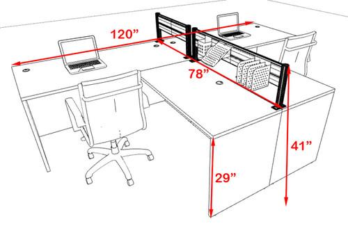 Two Person Modern Aluminum Organizer Divider Office Workstation, #OT-SUL-SPW41