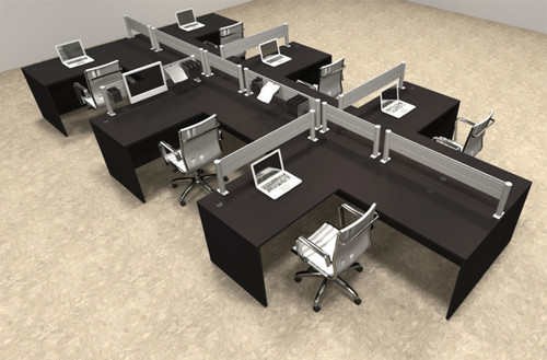 Six Person Modern Aluminum Organizer Divider Office Workstation, #OT-SUL-SPW52