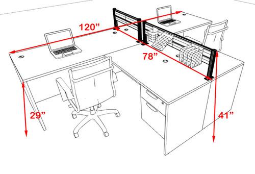 Two Person Modern Aluminum Organizer Divider Office Workstation, #OT-SUL-SPW55