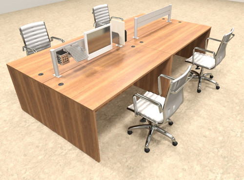 Four Person Modern Aluminum Organizer Divider Office Workstation, #OT-SUL-FPW5