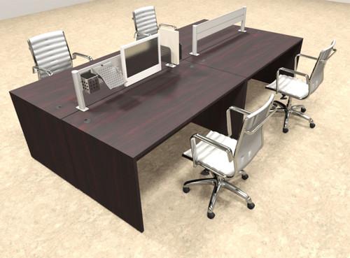 Four Person Modern Aluminum Organizer Divider Office Workstation, #OT-SUL-FPW7