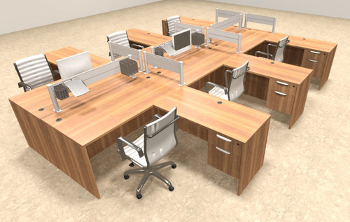 Six Person Modern Aluminum Organizer Divider Office Workstation, #OT-SUL-FPW45