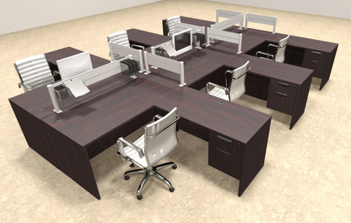 Six Person Modern Aluminum Organizer Divider Office Workstation, #OT-SUL-FPW47