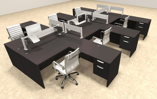 Six Person Modern Aluminum Organizer Divider Office Workstation, #OT-SUL-FPW48