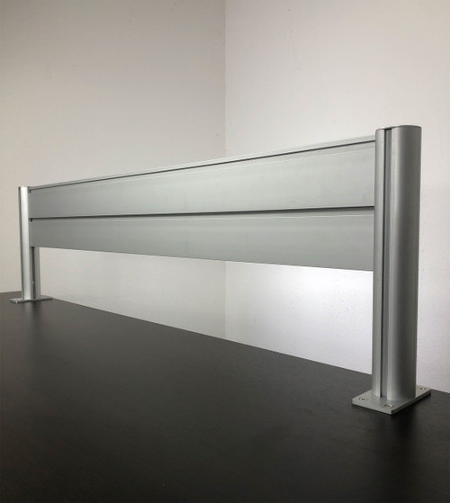 "Office Desk 47"" x 12"" Aluminum Organzier / Divider Panel Slatwall, #OT-SUL-HANG1"