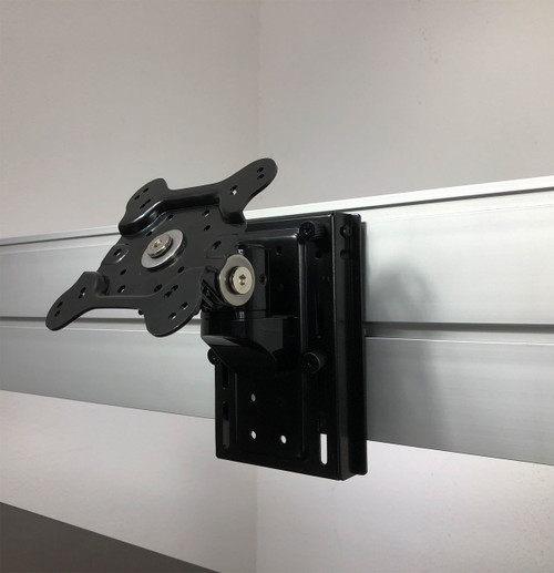 VESA Monitor Mount for Aluminum Organizer Slatwall w/ Short Arm, #OT-SUL-HANG4