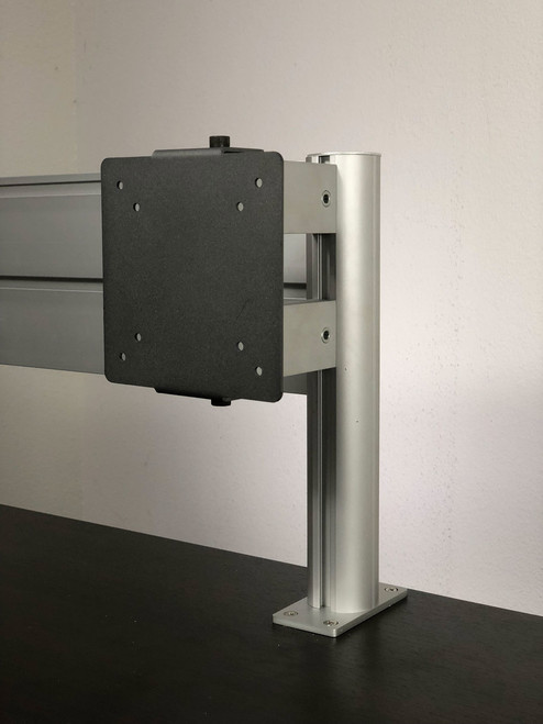 VESA Monitor Mount for Aluminum Organizer Slatwall w/ Short Arm, #OT-SUL-HANG5
