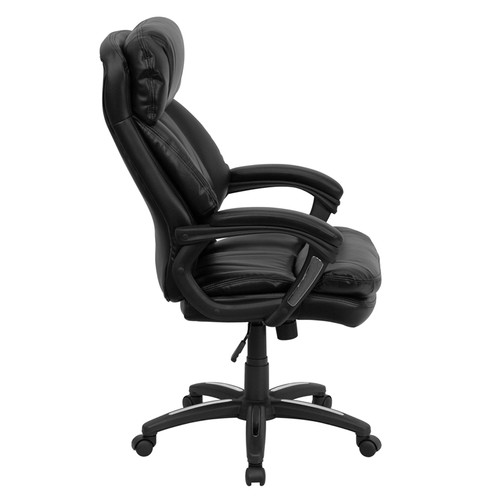 High Back Black Leather Executive Office Chair , #FF-0182-14