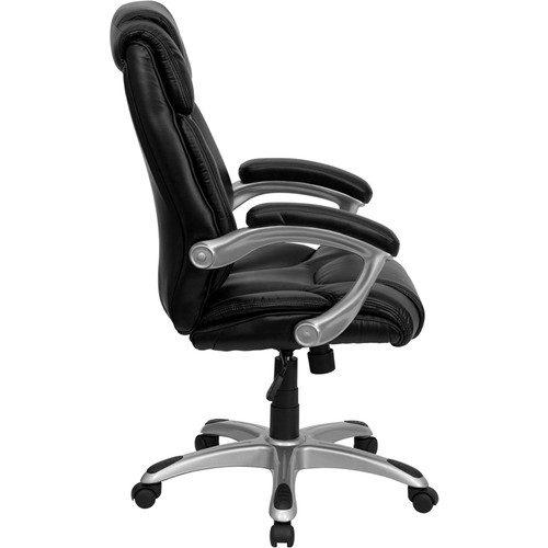 High Back Black Leather Executive Office Chair , #FF-0194-14