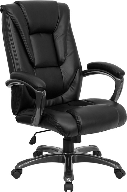 High Back Black Leather Executive Office Chair , #FF-0196-14
