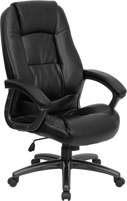 High Back Black Leather Executive Office Chair , #FF-0198-14