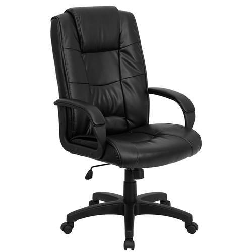 High Back Black Leather Executive Office Chair , #FF-0199-14