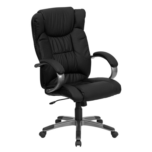 High Back Black Leather Executive Office Chair , #FF-0203-14