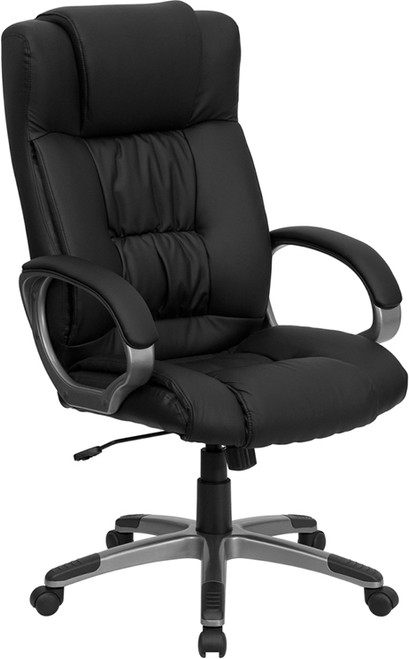 High Back Black Leather Executive Office Chair , #FF-0210-14