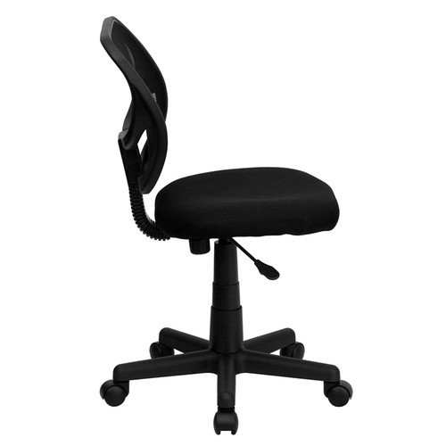 Mid-Back Black Mesh Task Chair and Computer Chair , #FF-0039-14