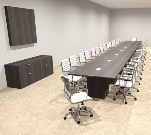 Modern Rectangular Top Cube Leg 32' Feet Conference Table, #OF-CON-CS55