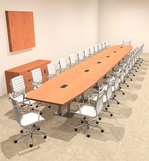 Modern Boat Shaped Steel Leg 28' Feet Conference Table, #OF-CON-CM89